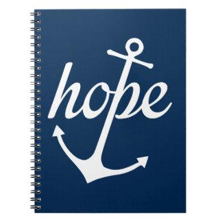 Hoffnung verankert das Soul (Hebräer-6:19) Notizblock