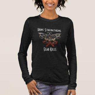 Hoffnung verstärkt langen Hülsen-T - Shirt