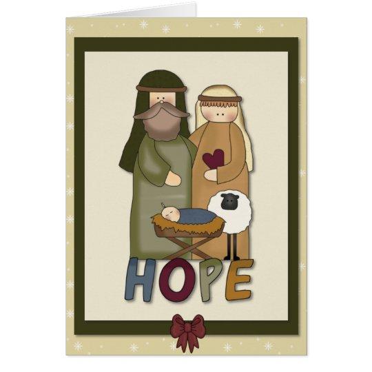 Hoffnungs-christliche Weihnachtsgruß-Karte Grußkarte