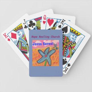 Hoffnungs-heilende Kirche Jesus rettet Spielkarten