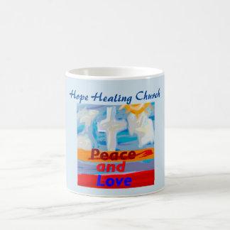 Hoffnungs-heilende Kirchen-Friedens-und Kaffeetasse