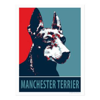 Hoffnungs-Parodie-politisches Plakat Manchesters Postkarte