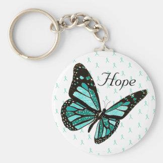 Hoffnungs-Schmetterlings-Schlüsselkette mit Standard Runder Schlüsselanhänger