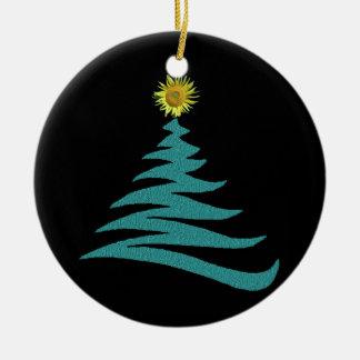 Hoffnungs-Weihnachtsbaum-Verzierung - rund Keramik Ornament