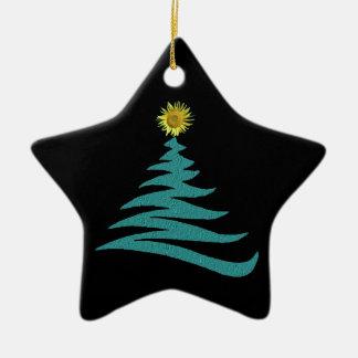Hoffnungs-Weihnachtsbaum-Verzierung - Stern Keramik Stern-Ornament
