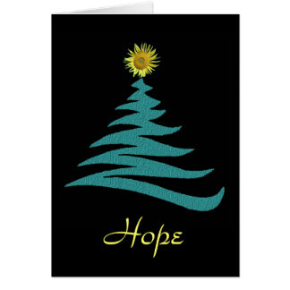 Hoffnungs-Weihnachtsgruß-Karte Grußkarte