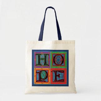 Hoffnungs-Wort-Typografie Tragetasche