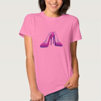 Hohe Ferse beschuht T-Stück in Lila T-shirts