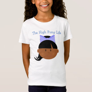Hohe Pony-Leben-Afroamerikaner-Cheerleader T-Shirt