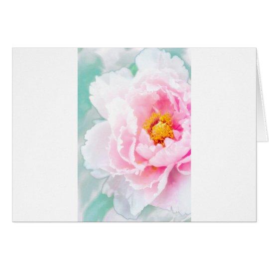 Hohe rosa Pfingstrosen-SchlüsselBlume Grußkarte