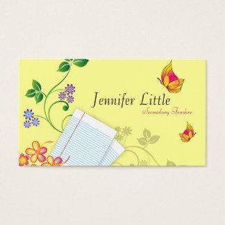 Hohe Schullehrer-Visitenkarte - gezeichnetes Visitenkarte