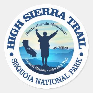 Hohe Sierra Spur Runder Aufkleber