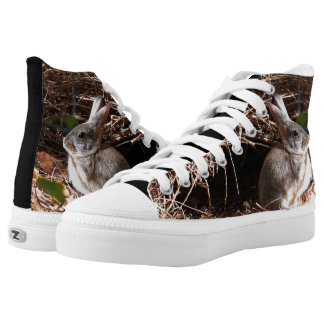 Hohe Spitzentennisschuhe des wilden Häschens Hoch-geschnittene Sneaker