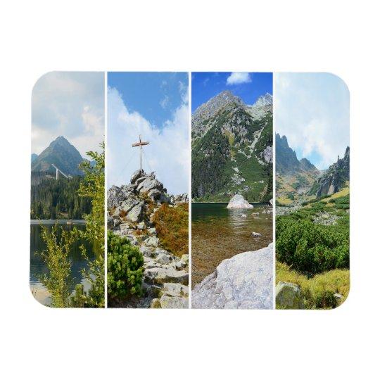 Hohe Tatra Berge Recchteckiger Magnet