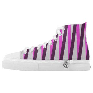 Hoher Spitzenschuh mit mutigen Streifen Hoch-geschnittene Sneaker
