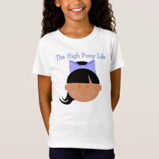 Hohes Pony-Lebens-mittlere Haut-Ton-Cheerleader T-Shirt
