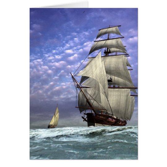 Hohes Schiff und Ketch Karte