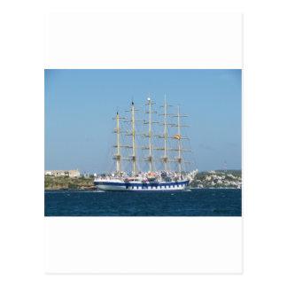 Hohes Schiffs-königlicher Scherer Postkarte
