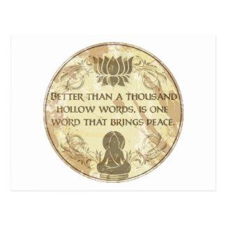Hohle Wörter Buddhas Postkarte