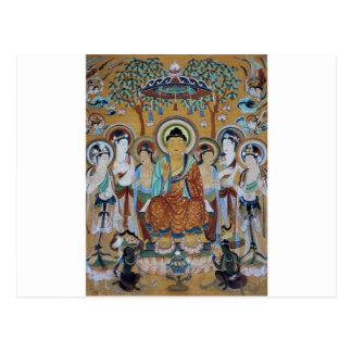 Höhlen-Kunst Buddha-und Bodhisattvas-Dunhuangs Postkarte