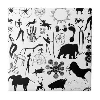 Höhlenmalereien - ursprüngliche Kunst Keramikfliese