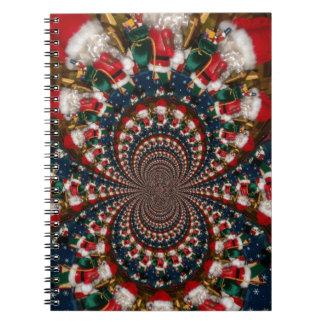 Hohoho! Frohe Weihnachten fertigen Produkt Spiral Notizblock