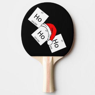 HoHoHo Holmium-Chemie-Element-Weihnachtswortspiel Tischtennis Schläger