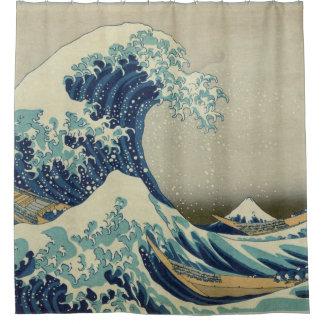 Hokusai die große Welle weg von Kanagawa GalleryHD Duschvorhang