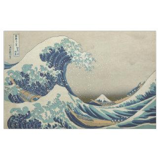 Hokusai die große Welle weg von Kanagawa GalleryHD Stoff