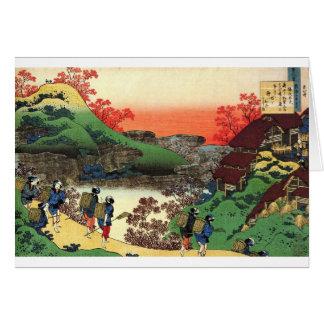 Hokusai - japanische Kunst - Japan Karte