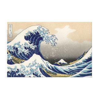 """Hokusais """"die große Welle weg von Kanagawa"""" Leinwa Leinwanddruck"""
