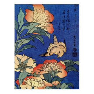 "Hokusais ""die Postkarte Blumen"