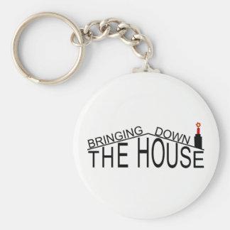 Holen hinunter den Hauslogoschlüsselring Schlüsselanhänger