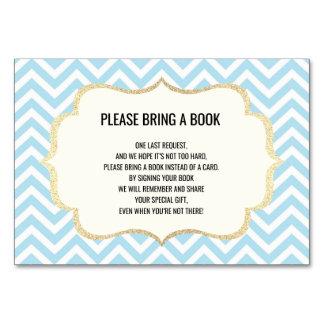 Holen Sie ein Buch - Zickzack blauer JUNGE Karte