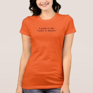 Holen Sie es setzen es unten orange Racerback T ab T-Shirt