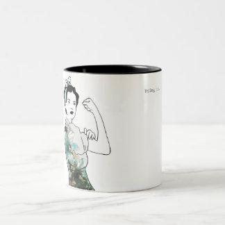 Holen Sie ihm Rosie die Nieteneinschläger-Tasse Zweifarbige Tasse