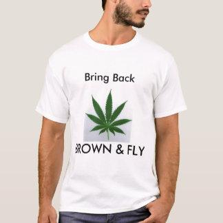 Holen Sie zurück BROWN UND FLIEGE T-Shirt