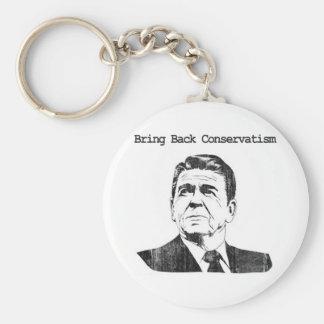 Holen Sie zurück Konservatismus Ronald Reagan Standard Runder Schlüsselanhänger