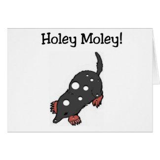 Holey Moley lustige Geburtstags-Karte (Großdruck) Grußkarte