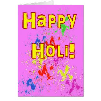 Holi Festival der Farbkarte Karte