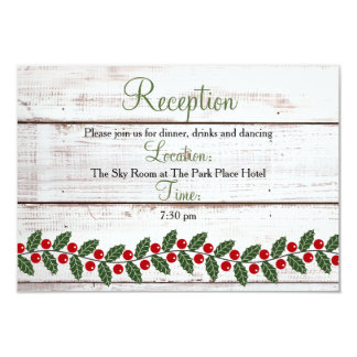Holiday Charm Winter/Christmas Reception Insert 8,9 X 12,7 Cm Einladungskarte