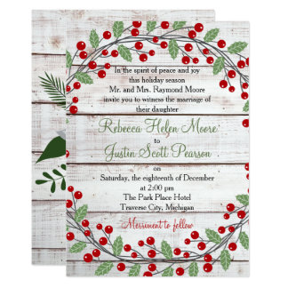Holiday Charm Winter/Christmas Wedding Invitation 12,7 X 17,8 Cm Einladungskarte