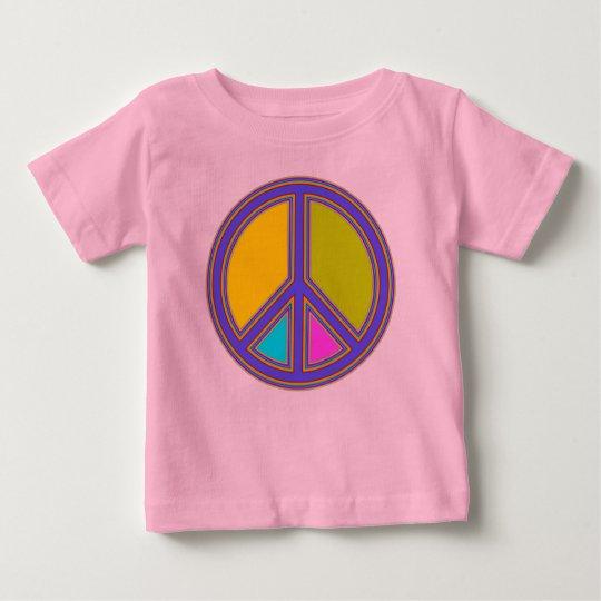 holiES - buntes FRIEDENSzeichen + Ihre Ideen Baby T-shirt