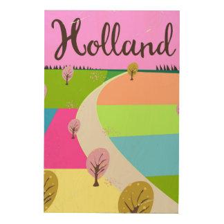 Holland-Feldreiseplakat Holzwanddeko