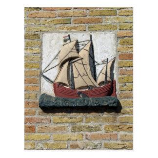Holland-Giebel-Stein des Holländer-Schiffs Postkarte
