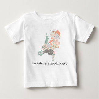 Holland-Provinz-Karten-geometrische Patchwork-Art Baby T-shirt