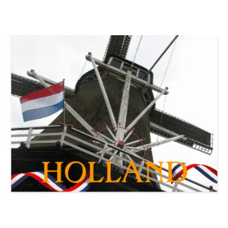 Holland-Windmühle und niederländische Postkarte