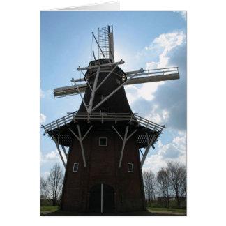 Holland-Windmühlen-Karte Grußkarte