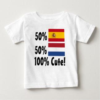 Holländer 100% 50% Spanisch-50% niedlich Baby T-shirt