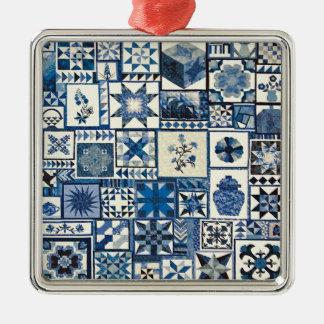Holländer Delft Silbernes Ornament